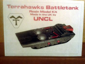 Terrahawks Battle Tank Studio Scale GRP Model Kit